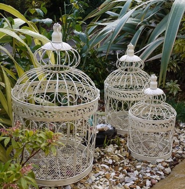 Ornate Bird Cage set of 3