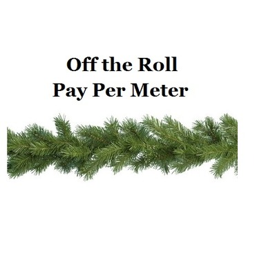 Christmas Garland on a Roll - Pay Per Meter