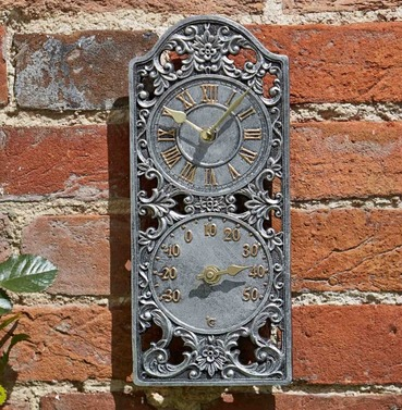 Capesthorne Westminster Wall Clock & Thermometer