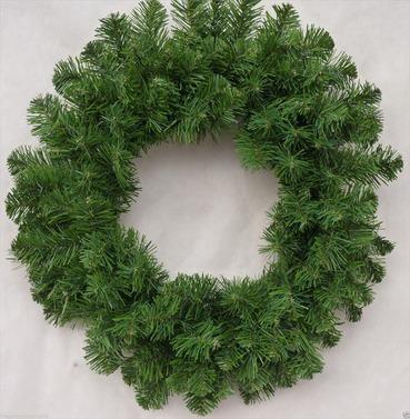Christmas Imperial Artificial Wreath 50cm - Large Plain Bushy