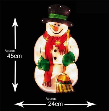 Snowman Christmas Window Silhouette Sign - Indoor - Premier