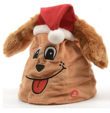 Dancing & Singing Dog Christmas Hat - With Moving Flapping Ears