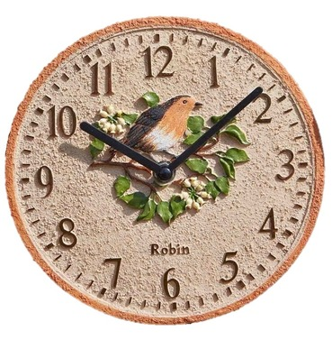 Robin Garden Outdoor Clock 8""
