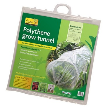 Grow Tunnel Cloche Kit - 3m - Polythene Cover
