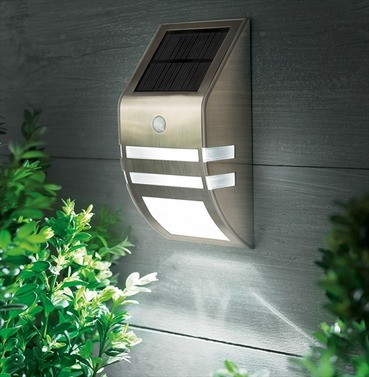 Stainless Steel Solar Wall Light - Motion Sensor