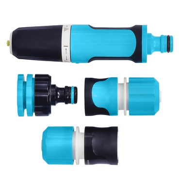 Flopro+ Hose Connector Starter Set - Adjustable Nozzle and Fittings