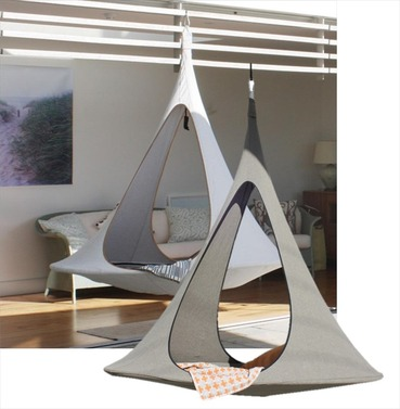 Songo Cacoon Haning Chair Tent Earth or Moon