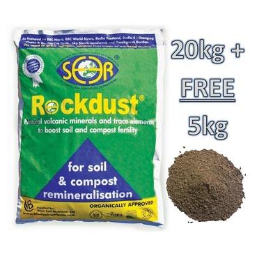 SEER Rockdust Garden Minerals - 20KG + FREE 5KG Bag