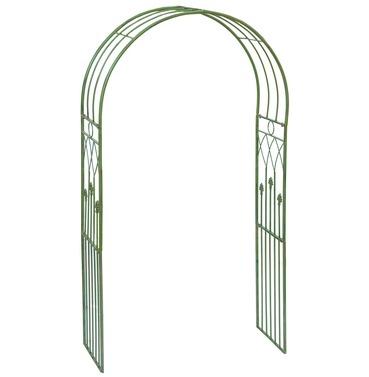 Wimbledon Metal Garden Arch - Aged Green - Jonart