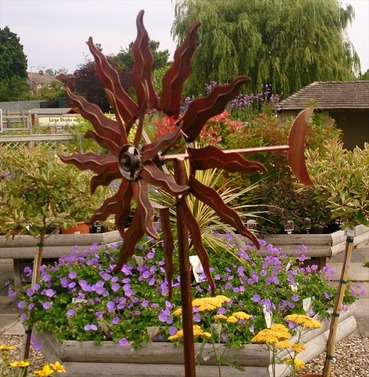 Solstice Garden Wind Sculpture Spinner - Garden Art