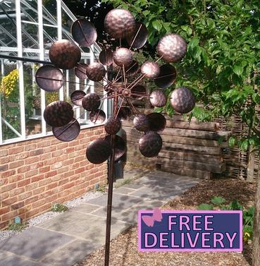 Galaxy Large Garden Wind Sculpture Spinner - Garden Art