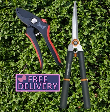 Pruning Combination - Fiskars Trimming & Shaping Shears and Wilkinson Sword Secateurs