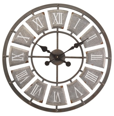 Lincoln Skeleton Garden Outside Wall Clock - Large 62cm - Indoor or Outdoor Clock