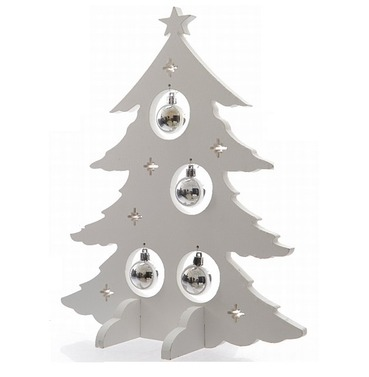 Wooden Christmas Tree & Baubles Decoration - 40cm