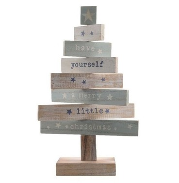 Wooden Christmas Tree with Moveable Spinning Sections - 35cm