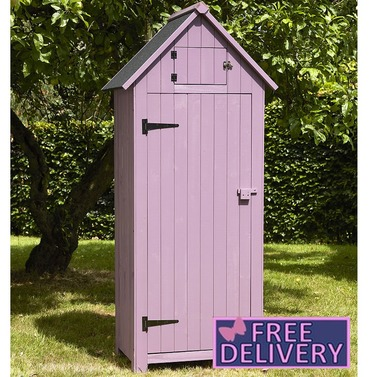 Garden Wooden Tool Shed Storage - Plum - Brundle Gardener