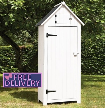 Garden Wooden Tool Shed Storage - White - Brundle Gardener