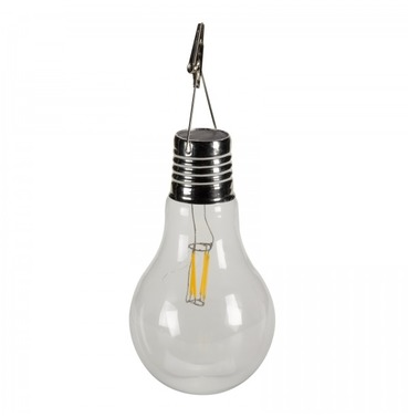 Large Eureka Retro Garden Glass Light Bulb with Edison Filement - Solar Powered