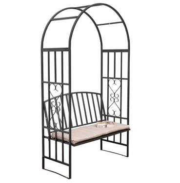 Huntingdon Steel Garden Arch & Arbour with Cushion
