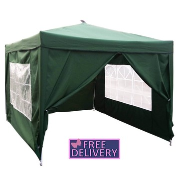 Pop Up Premium 3 x 3m Gazebo with Side Pannels - Charles Bentley