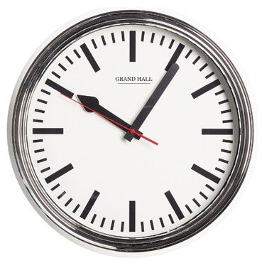 Grand Hall Wall Clock - Retro Style Indoor or Outdoor Garden Clock