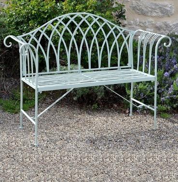 Fairford Scrolled Metal Garden Bench