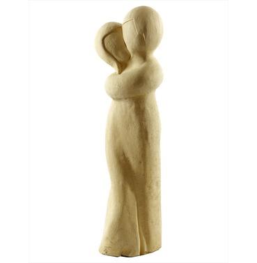 Stone Tender Embrace Statue - Cotswold Stone Finish - Melmar Stone