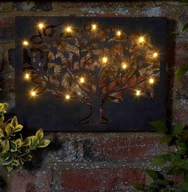 Silhouette Tree LED Lite Wall Art