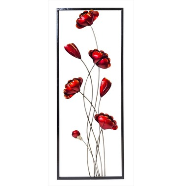 Wall Art Poppies - Indoor or Outdoor Garden Wall Art Fountasia