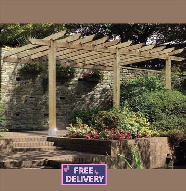 Large Lean To Pergola or Car Port - Grange