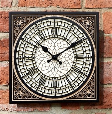 Little Big Ben Garden Square Outdoor Clock 12""
