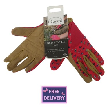 "Profession ""Elle"" Pink Gardening Gloves - Medium - Briers"