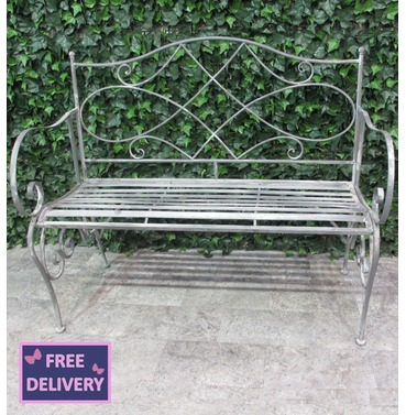 Westminster Garden Metal Bench   Ascalon