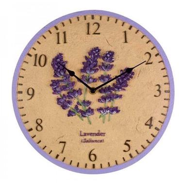 """Lavender Garden Outdoor Wall Clock 12"""""""
