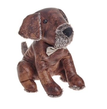 Sydney the Dog Doorstop - PU Leather and Cotton Fabric Door Stop