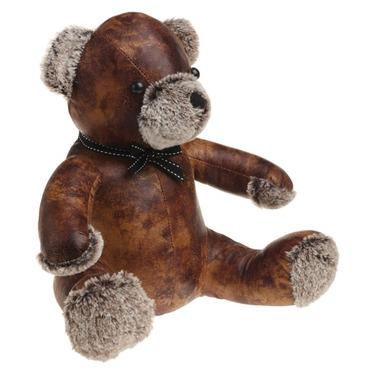 Bentley the Teddy Bear Doorstop - PU Leather and Cotton Door Stop