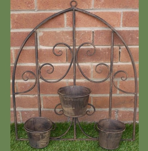 Rustic Wall Pot Holder Planters The Garden Factory