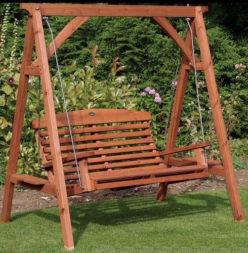 Apex garden wooden swing seat the garden factory Wooden swing seats garden furniture