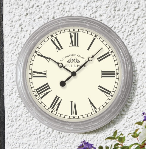 thermometers all outdoor clocks biarritz garden outside wall clock