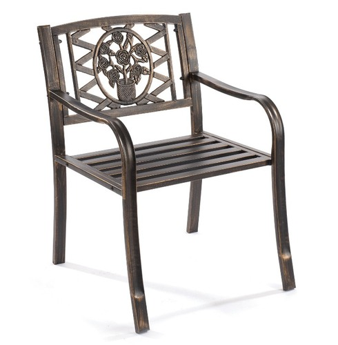 Coalbrookdale Ornamental Garden Arm Chairs - Pack of Two