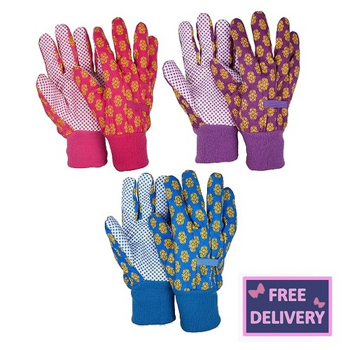 Brocade Triple Pack Gardening Gloves - Medium - Briers