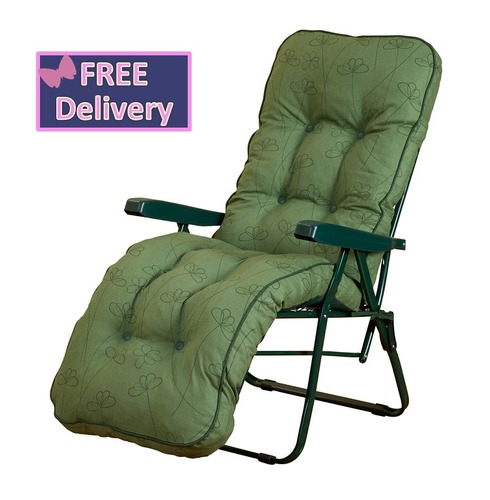 Reclining Multi Position Lounger Chairs - Green