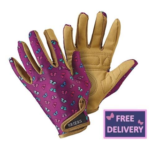 """Profession """"Elle"""" Lavender Gardening Gloves - Medium - Briers"""