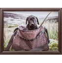 Pup In A Game Bag Lap Tray - Country Matters Dog Bean Bag Tray
